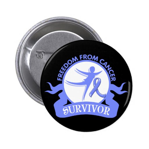 Intestinal Cancer - Freedom From Cancer Survivor 2 Inch Round Button