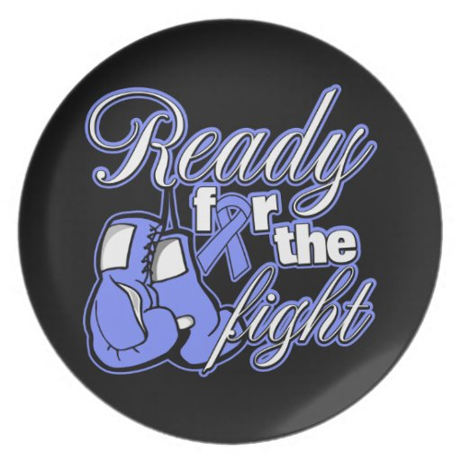 Intestinal Cancer Gloves Ready For The Fight Dinner Plates