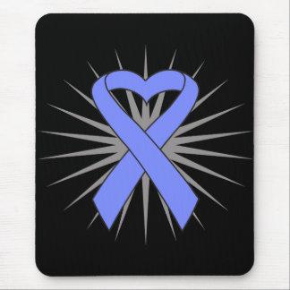 Intestinal Cancer Heart Ribbon Mouse Pad