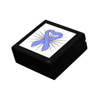 Intestinal Cancer Heart Ribbon Trinket Boxes