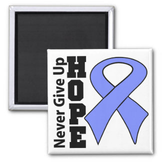 Intestinal Cancer Hope Never Give Up 2 Inch Square Magnet