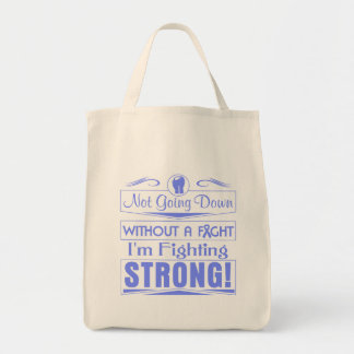 Intestinal Cancer I Am Fighting Strong Canvas Bags