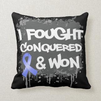 Intestinal Cancer I Fought Conquered Won Throw Pillows