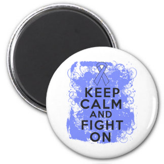 Intestinal Cancer Keep Calm and Fight On 2 Inch Round Magnet