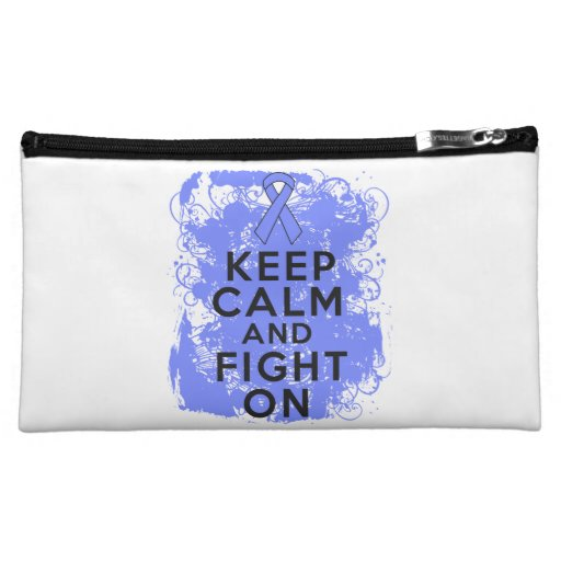 Intestinal Cancer Keep Calm and Fight On Cosmetic Bags