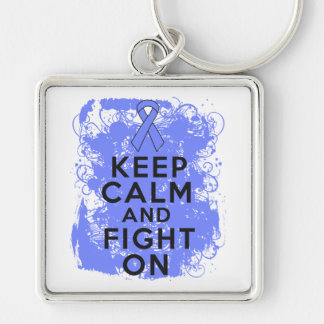 Intestinal Cancer Keep Calm and Fight On Key Chain