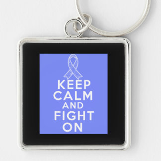 Intestinal Cancer Keep Calm and Fight On Key Chains