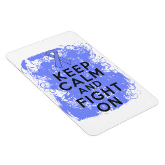 Intestinal Cancer Keep Calm and Fight On Rectangular Photo Magnet