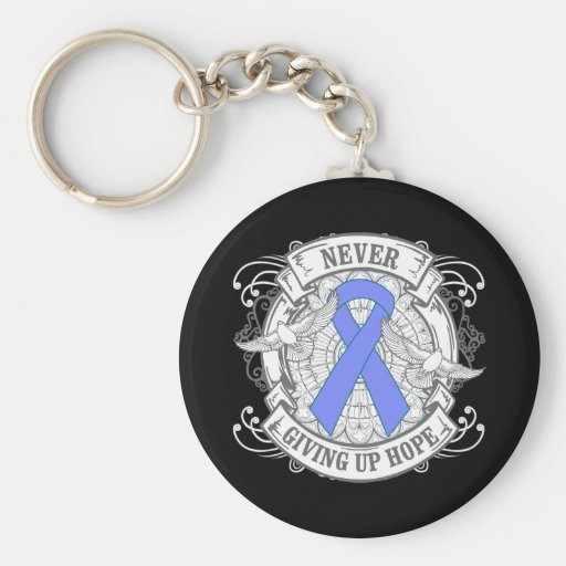 Intestinal Cancer Never Giving Up Hope Key Chain