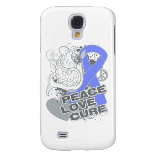 Intestinal Cancer Peace Love Cure Galaxy S4 Covers