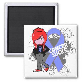 Intestinal Cancer Sucks 2 Inch Square Magnet