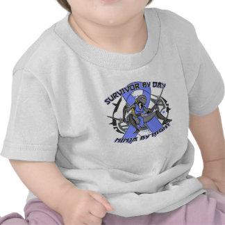 Intestinal Cancer Survivor By Day Ninja By Night Tee Shirts