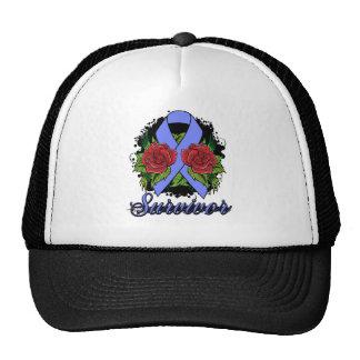 Intestinal Cancer Survivor Rose Grunge Tattoo Trucker Hat