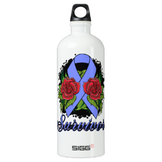 Intestinal Cancer Survivor Rose Grunge Tattoo SIGG Traveler 1.0L Water Bottle