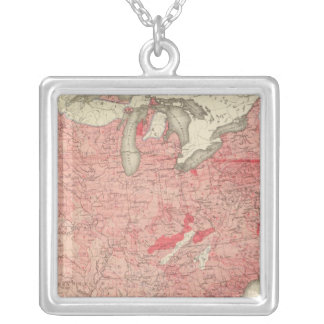 Intestinal Diseases Deaths in the US Square Pendant Necklace