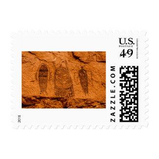 Intestine Man Pictograph - Moab - Utah Postage Stamp