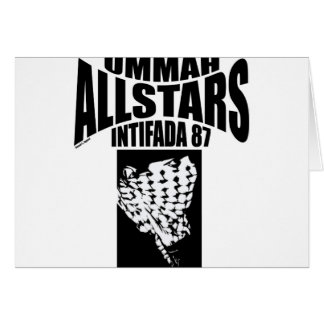 Intifada 87 de Ummah Allstars Tarjeta De Felicitación