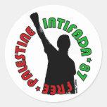 Intifada libre de Palestina Pegatina Redonda