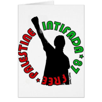 Intifada libre de Palestina Tarjeta De Felicitación