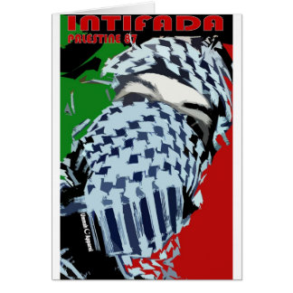 Intifada Palestina 87 Tarjeta De Felicitación