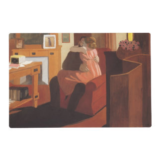Intimacy Couple in an Interior with a Laminated Placemat