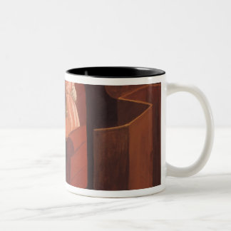 Intimacy Couple in an Interior with a Two-Tone Coffee Mug