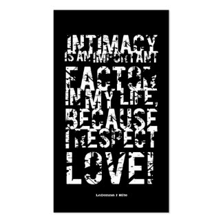 INTIMACY IS... BOOKMARK 1 (Business Cards Size)