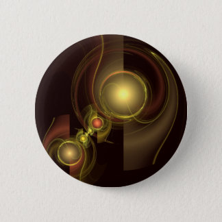 Intimate Connection Abstract Art Button (round)