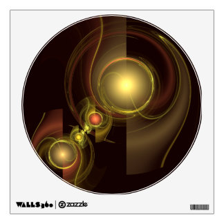 Intimate Connection Abstract Art Circle Wall Sticker