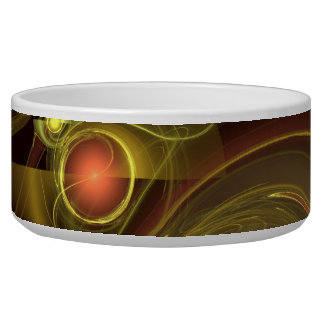 Intimate Connection Abstract Art Dog Bowl