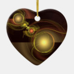 Intimate Connection Abstract Art Heart Ornament