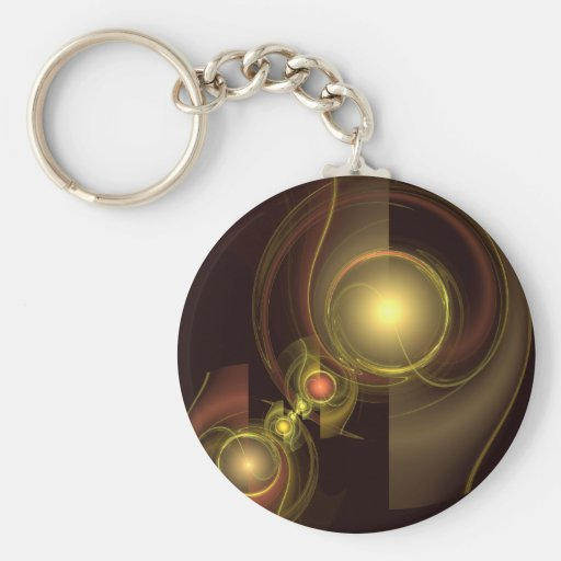 Intimate Connection Abstract Art Keychain