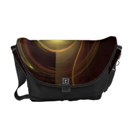 Intimate Connection Abstract Art Messenger Bag