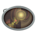 Intimate Connection Abstract Art Oval Belt Buckles
