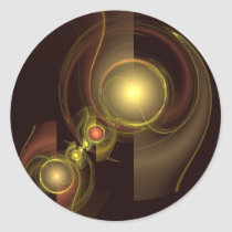 intimate, connection, abstract, art, round, sticker, Sticker with custom graphic design