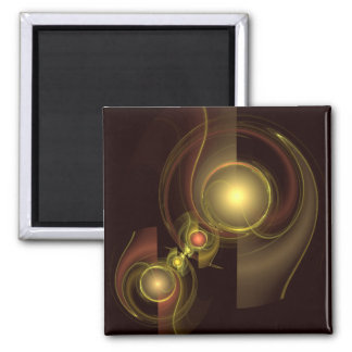 Intimate Connection Abstract Art Square Magnet