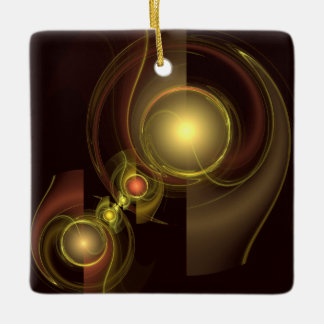Intimate Connection Abstract Art Square Ornament