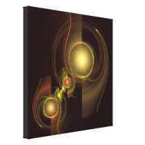 Intimate Connection Abstract Wrapped Canvas Print