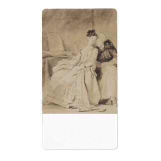 Intimate Conversation by Fragonard Label