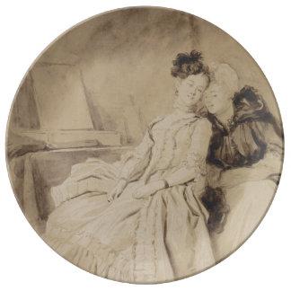 Intimate Conversation by Fragonard Porcelain Plates