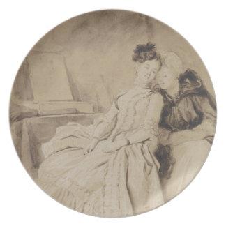 Intimate Conversation by Fragonard Dinner Plate