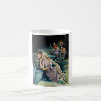 Intimate Couple at a Party Pin Up Art Coffee Mug
