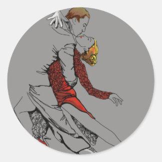Intimidad del tango pegatina redonda