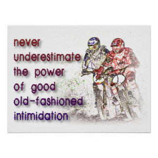Intimidation Dirt Bike Motocross Print Poster Sign