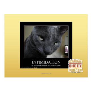 Intimidation Postcard