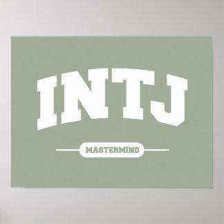 INTJ - Mastermind - University Style Poster