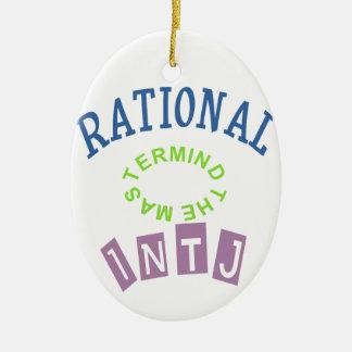 INTJ Rationals Personality Ceramic Ornament