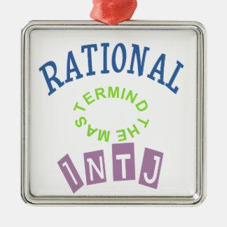 INTJ Rationals Personality Metal Ornament