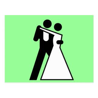 Int'l Sign for Bride & Groom Postcard