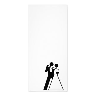 Int'l Sign for Bride & Groom Customized Rack Card